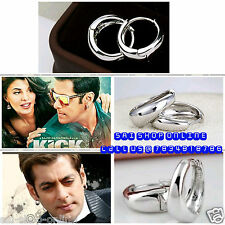 Kaju Bali Hoop Silver Men's Pierce Earrings Salman khan Style Inspired **