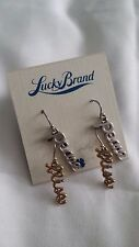 "DEPARTMENT STORE - NORDSTROM - LUCKY BRAND ""PEACE"" ""BLISS"" DROP EARRINGS"