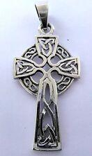 Argento Sterling (925) Croce Celtica Ciondolo!!! Nuovissimo!!!