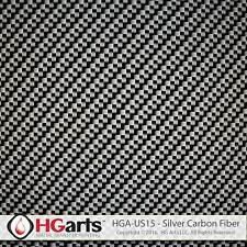 HYDROGRAPHIC FILM (5sqm/ROLL) WATER TRANSFER FILM | Silver Carbon Fiber