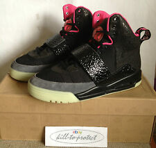 (utilizzato) Nike Air Yeezy 1 uno BLINK US8.5 UK7.5 NERO 366164-003 luminescenza Kanye West