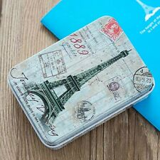 Small Rectangular Storage Jars Gift Jewelry Iron Tin Box Card Case Holder Decor