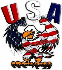 "3"" USA BALD EAGLE AMERICAN FLAG PATRIOTIC TOOL BOX LAPTOP HELMET DECAL STICKER"