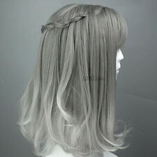 Lady Gradient Full Wig Fringe Bang Cosplay Fancy Dress Straight Lolita Gray Hot