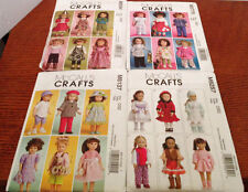 """4 UNCUT McCALLS 18"""" DOLL CLOTHES PATTERNS - GROUP 7  - FIT AMERICAN GIRL DOLL"""