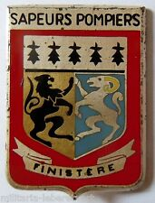 Insigne SAPEURS POMPIERS OBSOLETE FRANCE DEPARTEMENT FINISTERE Drago ORIGINAL