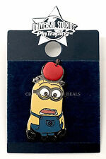 NEW Universal Studios Despicable Me Minion Dave with Apple on Head Trading Pin