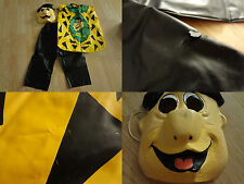 Youth Boys Fred Flinstone Sz 3/5 Halloween Costume Mask & Outfit 1982 Ben Cooper