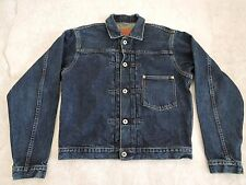 "Levi's First Type 506XX Indigo Denim Jean Jacket BIG""E"" Japan 38 Selvedge  372"