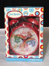 new CARE BEARS red TWIN BELL Alarm CLOCK Battery Op 2006 friend LUCK grumpy BEAR