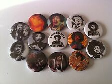 13 Jimi Hendrix Pin Button badges 25mm All Along the Watchtower Experience