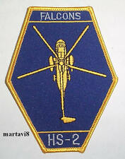 US.Navy `FALCONS HS-2` Helicopter Cloth Badge / Patch (S16)