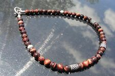 Spiritual Beads Baby Red King Hearts Celtic Chrome Jewelry Choker Necklace Gem