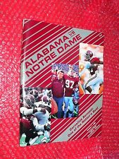 Alabama vs. Notre Dame Program October 4, 1986 Cornelius Bennett