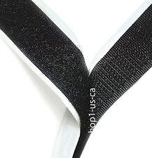 """Hook and Loop Tape Self Adhesive 1"""" 30 feet - Black strip QUALITY"""