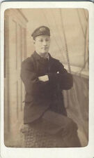 ORIGINAL 1864 CDV OF RIVER BOAT PILOT IN UNIFORM - SOUTH EAST LONDON