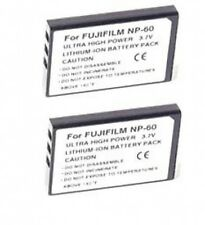 TWO 2 NP-60 Batteries for Fuji FujiFilm FinePix 50i F401 F410 F601