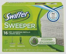 New! SWIFFER Sweeper 16 Dry Refill Cloths Pads Floor Cleaner System Duster 31821