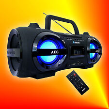 AEG SR 4359 Bluetooth Ghettoblaster MP3 CD Player USB SD AUX Radio Stereoanlage