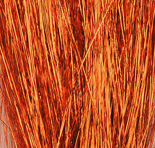 Copper Flashabou accent flash for tying flies jig lure 1500 tinsel strand hank