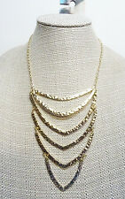 New Gold Tone Fashion Statement Necklace by Urban Outfitters #N2451