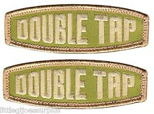 """(2) DOUBLE TAP HOOK & LOOP BACKING Military & Airsoft PATCH 1"""" X 3"""" 72191"""