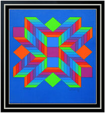 Victor Vasarely Original Color Silkscreen Rare Modern Illusion Hand Signed Art