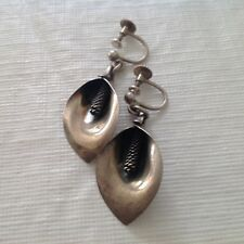 N E FROM Vintage Sterling Silver Dangle Earrings. Mid Century Danish Denmark.