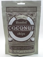 Trader Joe's Roasted Coconut Chips NEW 2 OZ Gluten Free & Vegan - Good with Oil