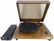 NOS KUZMA STABI SOLID OAK TURNTABLE COMPLETE WITH REFERENCE POWER SUPPLY SME