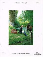 PUBLICITE ADVERTISING 074  1991  LONGCHAMP   bagages sacs