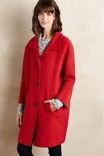 NWT Sz S Anthropologie Brienne Winter Coat Red by Elevenses Size Small