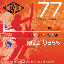 Rotosound RS77S MONEL FLATWOUND JAZZ BASS STRINGS 40-90 short scale