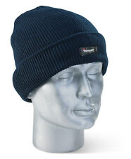 Thinsulate Tricot Chaud Thermal Beenie Bonnet Chapeau MARINE Taille Unique Fit
