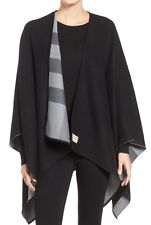 NEW BURBERRY Reversible Merino Wool Cape Shawl