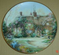 The Hamilton Collection Collectors Plate LARKSPUR COTTAGE