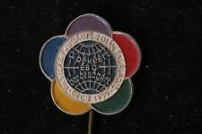 Austria WFDY 1959 7th World Festival Vienna Youth Students Pin Vintage Hungary
