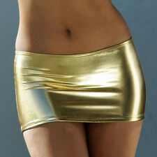 Sexy Gold Micro Mini Skirt/Model/Stripper/Rave/Porn/Pole Dancer/Made in usa/m-l