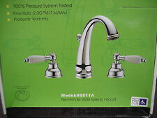 "Romix Two handle widespread bathroom Faucet Chrome 6 - 24"" on center 3 hole sink"