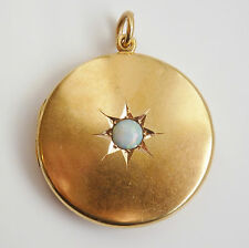 Stunning Large Antique Edwardian 15ct Gold Opal set Photo/Picture Locket c1910