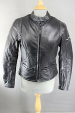 FRANK THOMAS LADY RIDER LEATHER BIKER JACKET + THERMAL LINING & CE ARMOUR SIZE10