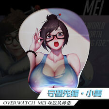 Online Game Overwatch Mei 3D Breast Silicone Soft Mouse pad Play Mat Wrist Rest
