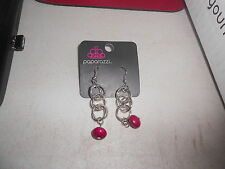 Paparazzi Earrings (new) LOOPS & LOOPS DANGLE W/WINE BEAD