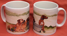RHODESIAN RIDGEBACK DOG MUG Off to the Dog Show SANDRA COEN ARTIST watercolour