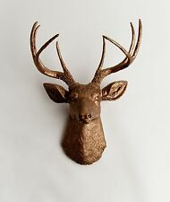 The Bennett - Faux Bronze Deer Head & Antlers by White Faux Taxidermy Mounts