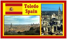 """Calamita da frigorifero """"Toledo, Spagna"""". Magnete souvenir novità."""