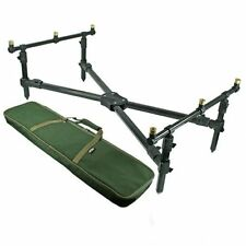 ROD POD CARP FISHING LOW CROSS POD WITH DELUXE CASE NGT FREE POST