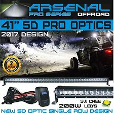 No.1 41'' 5D Projector Pro Optic Single Row Straight Cree 200W LED Light Bar