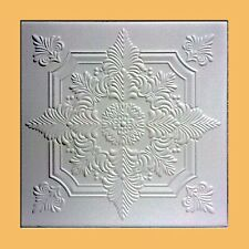 40 pc Antique Ceiling Tile - 20x20 NOVARA White Tin-Look Easy Instalation