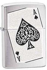 Zippo 6230 ace of spades card RARE & DISCONTINUED Lighter